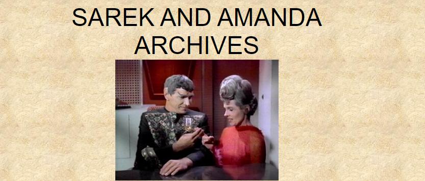 Sarek and Amanda Archive banner